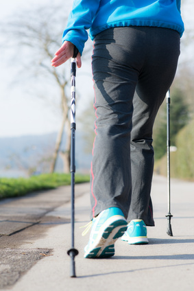 Nordic Walking Stöcke in Action